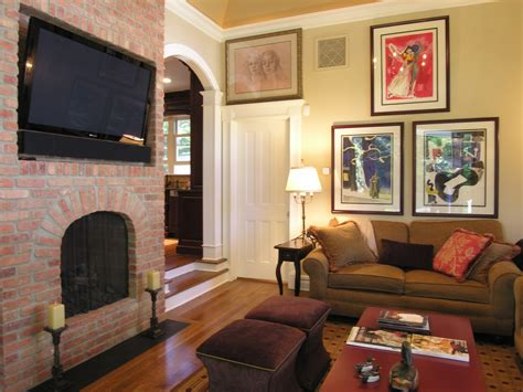 F&f Home Decor : Decoration Fireplace Designs With Brick Living Rooms Red