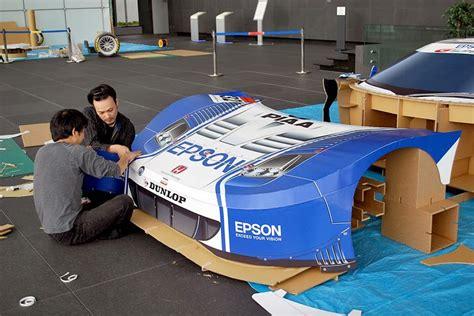 honda nsx super gt race car replicated  paper