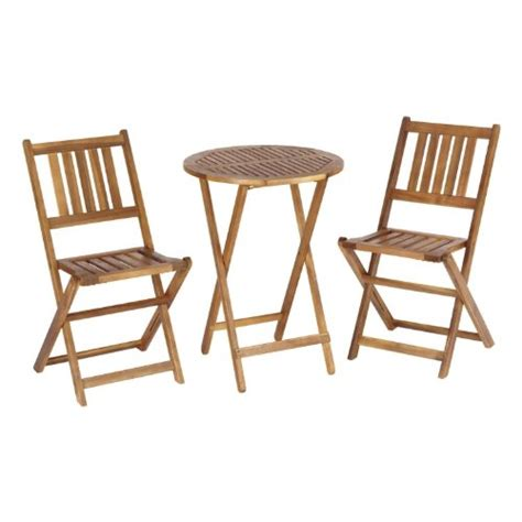 living accents wooden bistro set best patio furniture