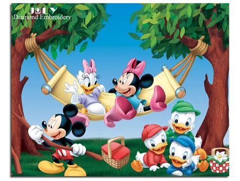 diy diamond painting cartoon drawing mickey mouse