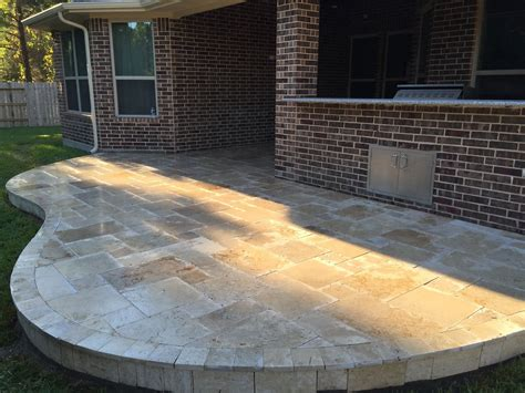 travertine patios patio design