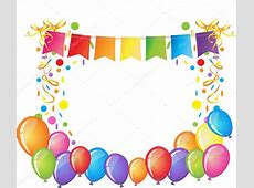 Celebration background with colorful confetti, ribbons and