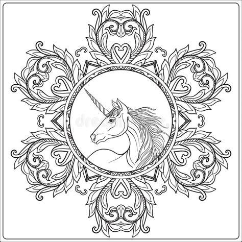 unicorn mandala stock illustrations  unicorn mandala