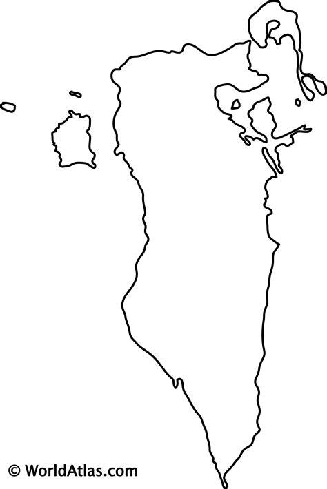 bahrain outline map