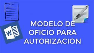 Modelo De Oficio Para Autorizacion En Word 2016