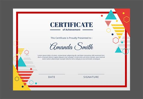 certificate template   vector art stock
