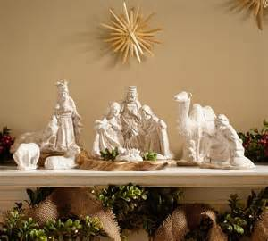 ceramic nativity set traditional holiday accents and figurines by pottery barn