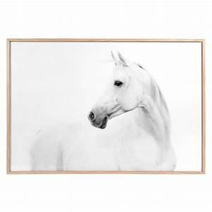 Tableau Maison Du Monde : tableau cheval blanc en bois 60 x 90 cm maisons du monde ~ Teatrodelosmanantiales.com Idées de Décoration