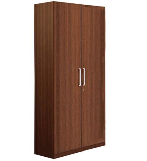 2 Door Wardrobe by Nilkamal Reegan Two Door Walnut Wardrobe Without Mirror By
