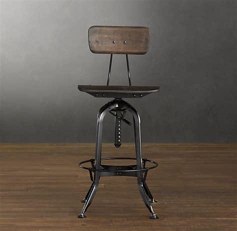 Vintage Toledo Bar Chair Distressed Black   Bar & Counter