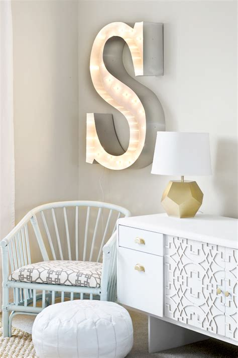 diy marquee letter renter friendly curtains sarah