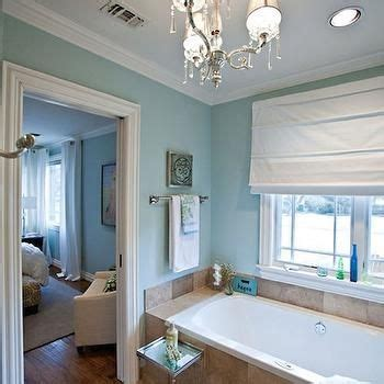Spa Blue Bathroom by Travertine And Blue Bathrooms Spa Blue Paint Color