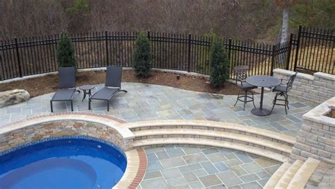 pool deck material bluestone pool deck