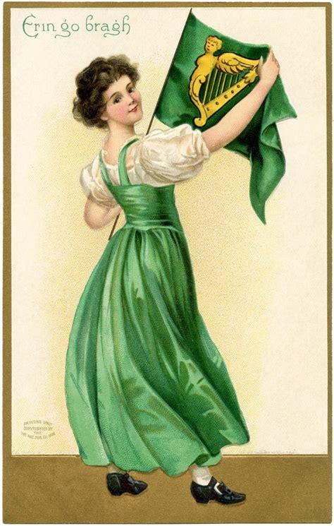 st patricks day flag lady  graphics fairy