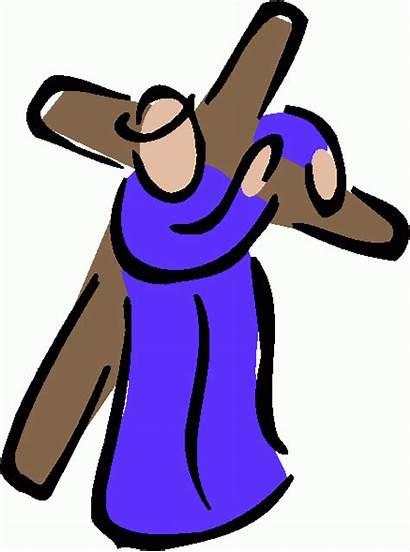 Jesus Cross Clipart Clip Carrying Lds Convent