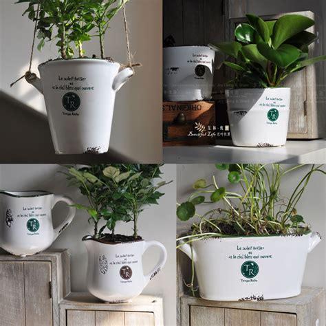 Home Decoration Pots Ceramic Vase Retro Finishing Flower