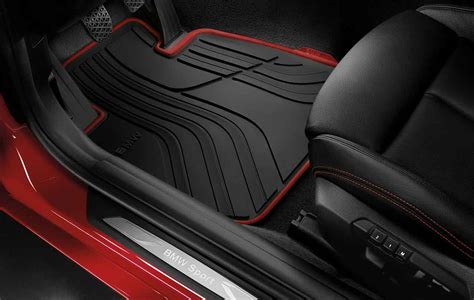 Bmw Genuine All-weather Rubber Front Car Floor Mats Sport