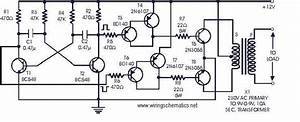 12v Dc To 220v Ac Inverter Circuit Diagram