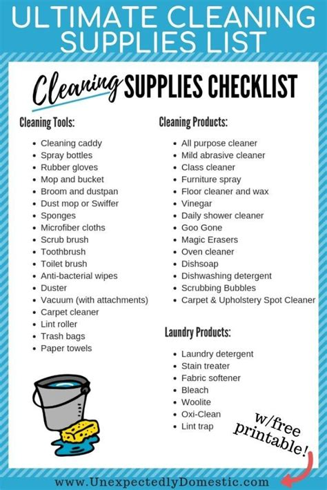 ultimate cleaning supplies checklist your must