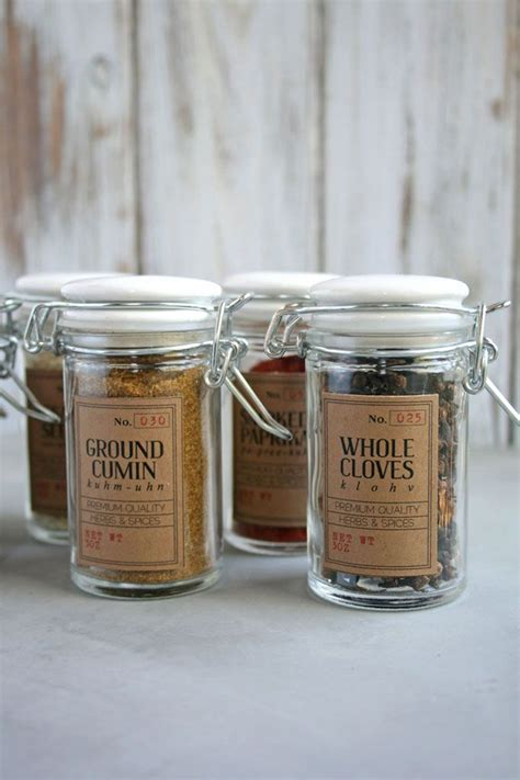 Spice Jars by 30 Best Spice Jar Labels And Templates Images By