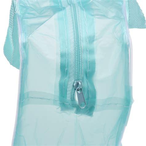 tas perlengkapan mandi dan kosmetik transparant motif floral green 1 tas perlengkapan mandi dan kosmetik transparant motif