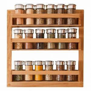 Solid Oak Spice Rack - Solid Wood Kitchen Cabinets