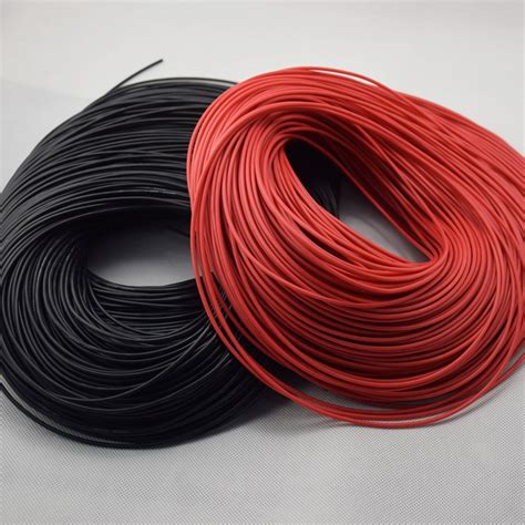 awg  meter black red wire gauge silicone wire flexible stranded copper cables  rc