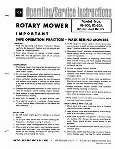 Mtd 112 Service Instructions Manual Pdf