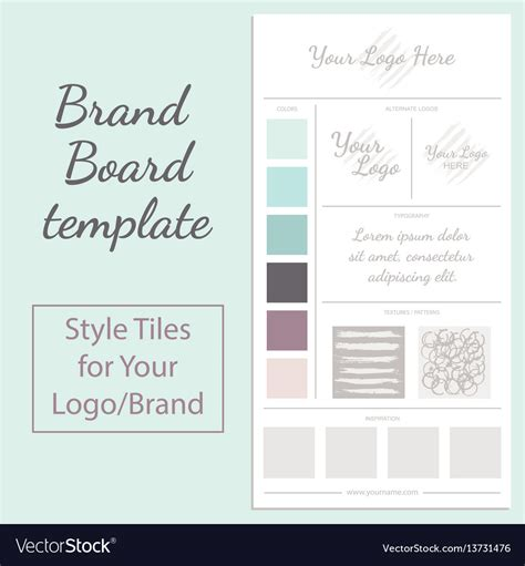Moodboard Template Moodboard Template Isolated On White Royalty Free Vector