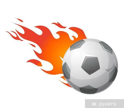 foto de Adesivo Pallone da calcio con fiamme vettoriale • Pixers