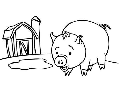 pig  barn coloring page coloring sky