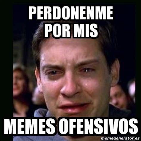 meme crying peter parker perdonenme por mis memes