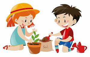 Boy and girl planting tree illustration Royalty-Free Stock ...