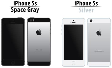 space grey iphone iphone 5s space gray and silver illustration on behance 13007