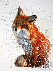 Love the powerful use of colour and texture in this ...Fox ...