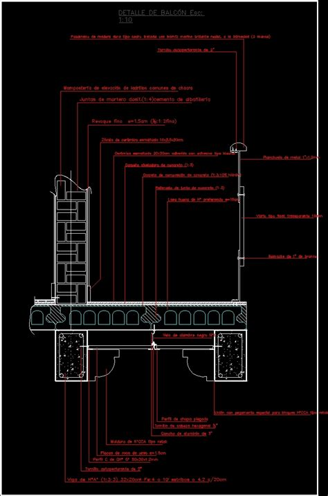 balcony detail dwg detail for autocad designs cad