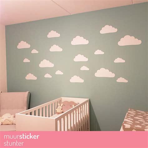 muursticker wolkjes gt eigen formaat kleur v a 2 per 10 - Muursticker Babykamer