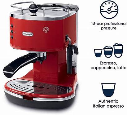 Espresso Delonghi Maker Machine Eco Coffee Icona