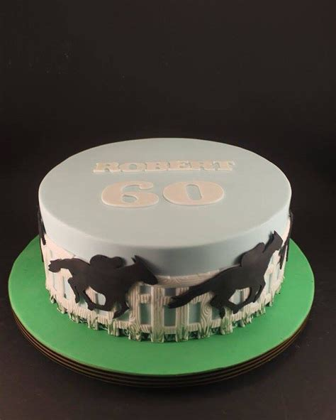 horse racing cake  roberts  johns retirement cake