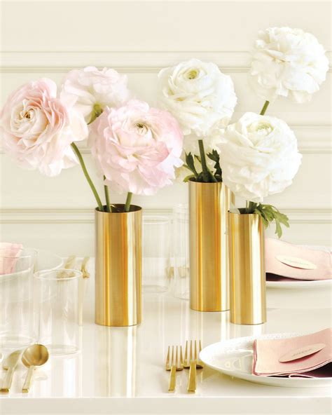 Gold Vases by Wrap Inexpensive Metal Sheets Around Plain Glass Vases To