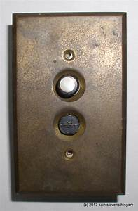 Vintage Arrow Push Button Light Switch & Brass Switch ...