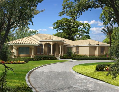 mediterranean house plan 64695 mediterranean grand covered entry 32190aa 1st floor master suite Florida