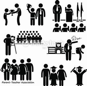 School Events Student Teacher Parent Stick Figure ...