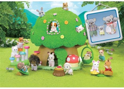 sylvanian families nursery tree house amp koala family 573 | sfnurse