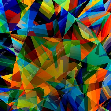 colorful geometric background abstract triangular pattern