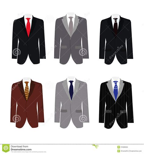 set of 6 illustration handsome business suit stock vector 31828505