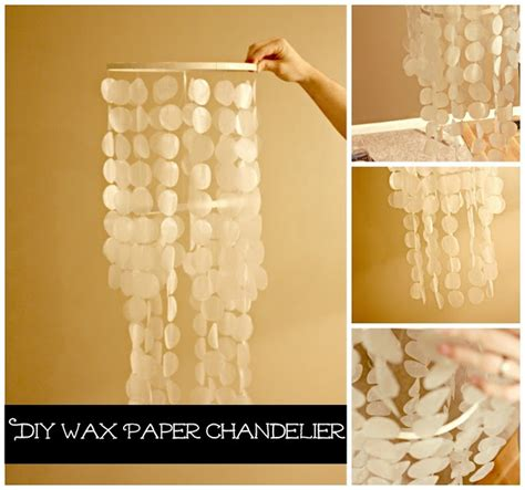 diy wax paper chandelier diy paper