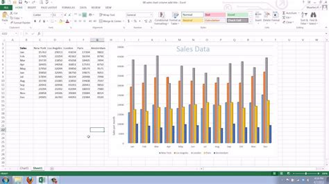 How To Add A Axis Title To An Existing Chart In Excel 2013