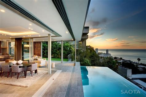 House With Stunning Views In Cape Town, South Africa :  Beautiful Head Road 1816 House By Saota