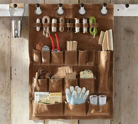 pottery barn ta the organized garden shed storage system from